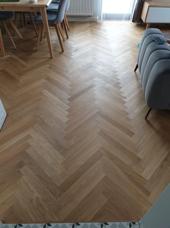Zdjęcie wykonania podłogi przez firmę Salon Podłóg Drewnianych
